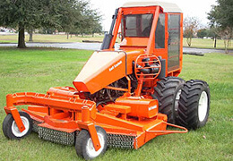 Brush clearing mower with speeds up to 6mph