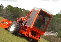 Designed for land clearing to cut rough terrain, including heavy grass and weeds.