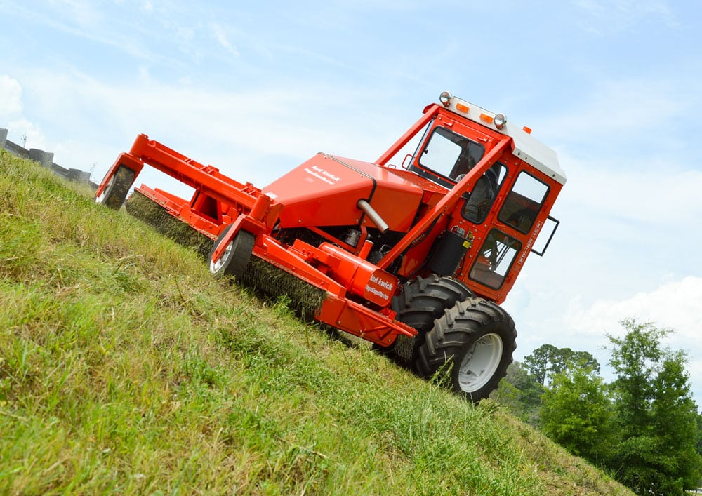 Steep slope mower, heavy duty mowers, best mower for slopers, hills, steep banks, uneven terrain, mowing