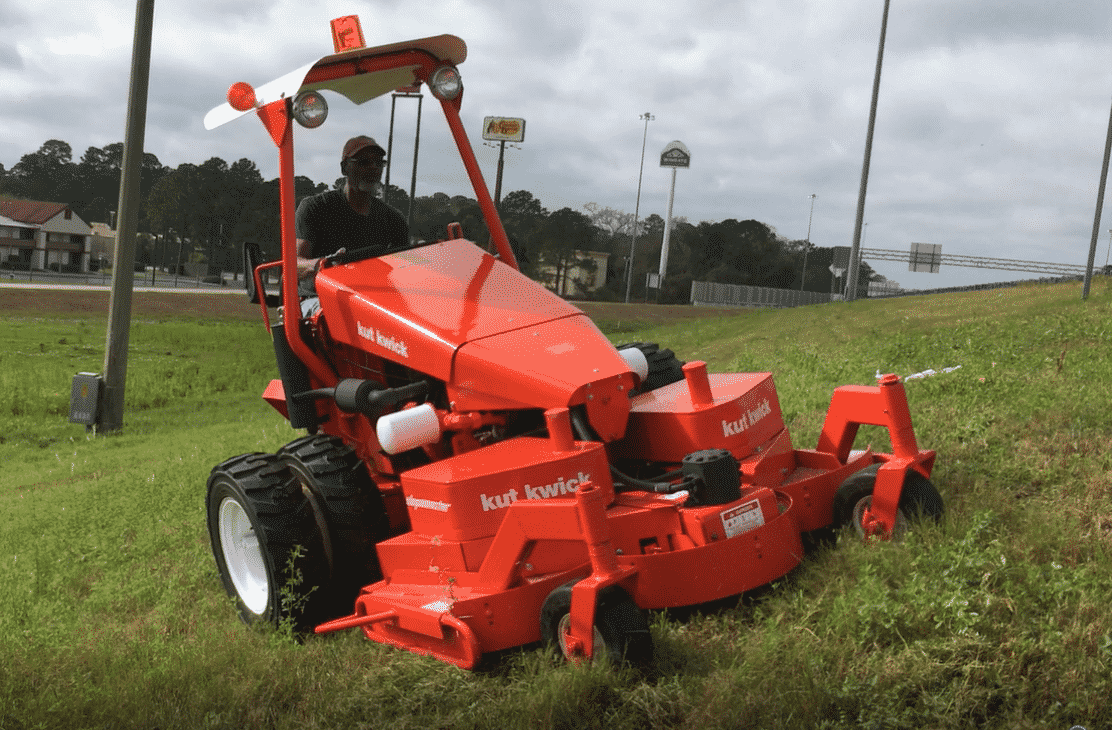 Slope mowers for sale, hillside mowing equipment, best hillside mower, what mower is best for hills, wide area, ride on