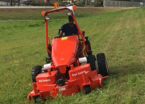 Steep slope mower